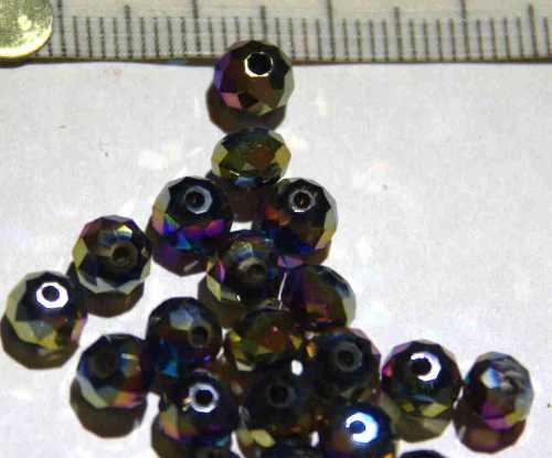Glasperle Kunterbunt geschliffen 6mm