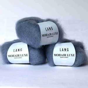 Mohair Luxe Rauch-Graublau