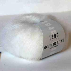 Mohair Luxe Weiß