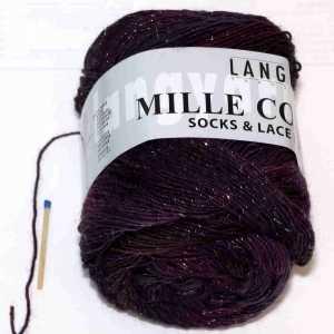 Mille Colori Socks & Lace Luxe Burgund