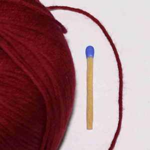Baby Cotton Dunkelrot