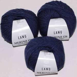 Jeans dunkel melange Merino 120