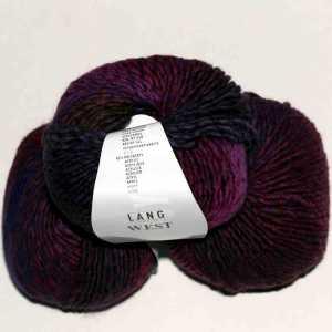 Violett-Dunkelrot-Braun West