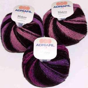 Mistero Stripes & Stitches Pink-Purple-Fuchsia stripes