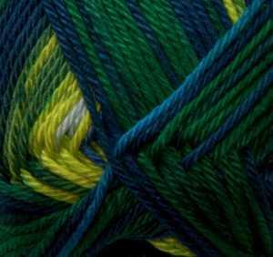 Quattro Color weiß-blau-grün-gelb