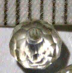 Glasperle Champagner geschliffen 4mm