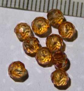 Glasperle Citrin geschliffen 4mm