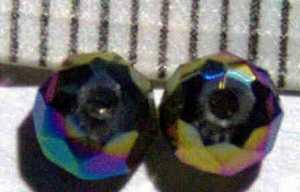 Glasperle Kunterbunt geschliffen 4mm