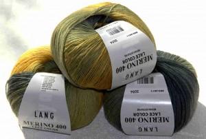 Gruppe Merino 400 Lace Color Gelb-Grau, genannt Küken