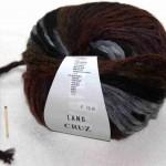Cruz Dunkelrot-Braun-Schwarz-Silber von Lang Yarns