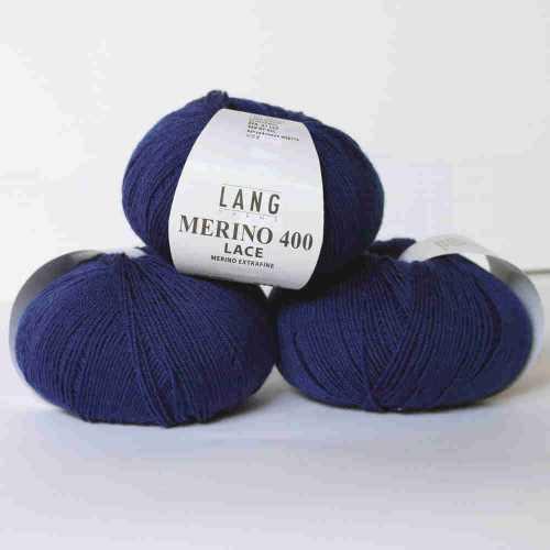 Merino 400 Lace Jeansblau