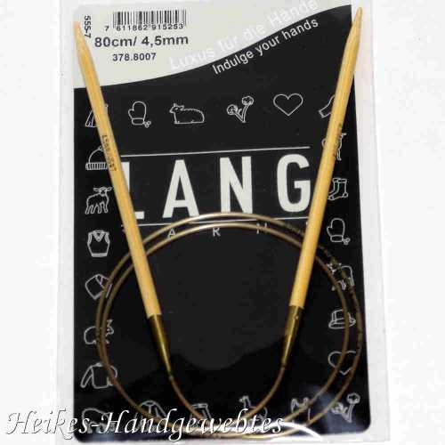 Bambus-Stricknadeln Nr. 4,5 mit 80cm Seil