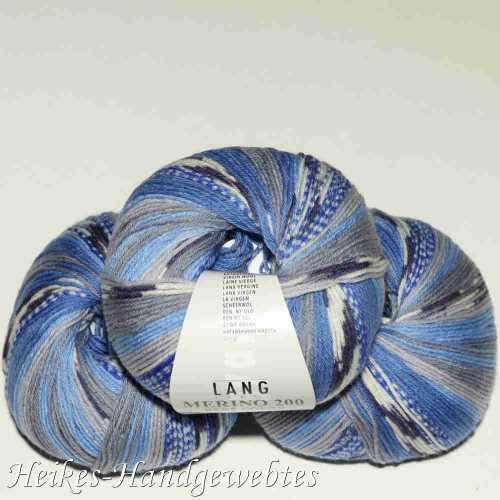 Merino 200 Bebe Color Jeans-Grau