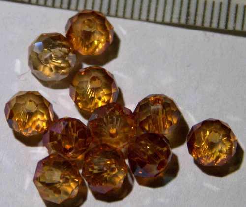 Glasperle Citrin geschliffen 6mm