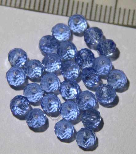 Glasperle Aquamarin geschliffen 4mm