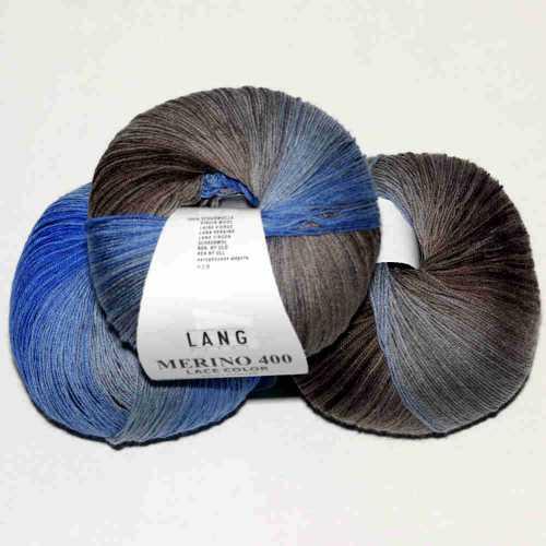 Merino 400 Lace Blau-Grau