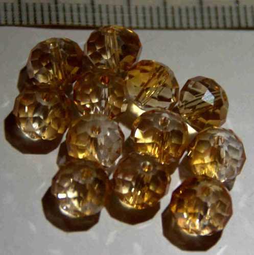 Glasperle Citrin geschliffen 8mm