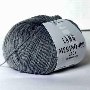 Merino 400 Lace Grau