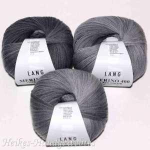 Merino 400 Lace Color Grau-Weiß-Schwarz