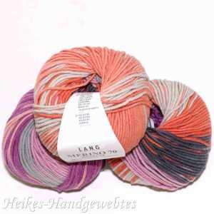 Merino 70 Dégradé Lachs-Mint-Pink