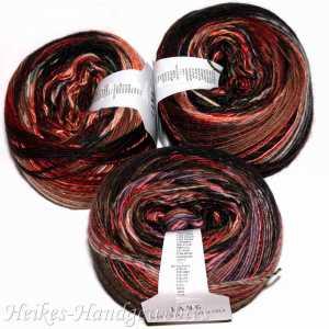 Mille Colori 200g-Bobbel Rosa-Rot-Braun-Dunkelgrün