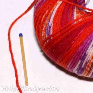 Merino 200 Bebe Color Rot-Orange-Violett