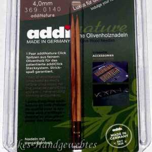 addiClick Nature - Ersatzspitzen 4 Olivenholz