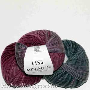 Merino 120 Color Aubergine-Grau