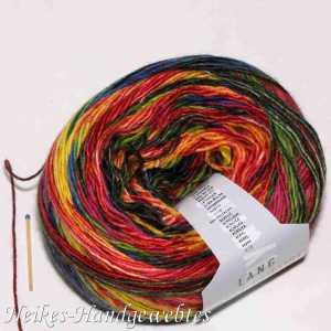 Mille Colori 200g-Bobbel Bunt-Rot