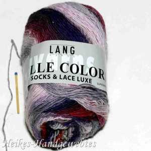 Mille Colori Socks & Lace Luxe Nelke-Rosa-Grau