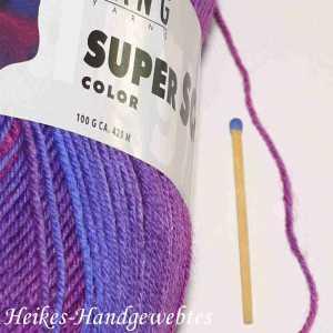 Super Soxx Color 4-fach Blau-Fuchsia