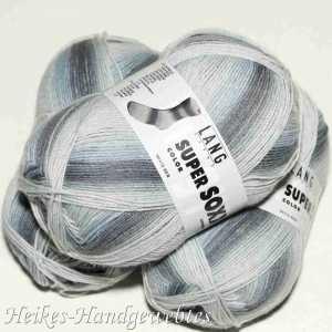 Super Soxx Color 4-fach Silber-Grau