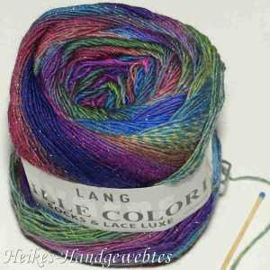 Mille Colori Socks & Lace Luxe Blau-Pink