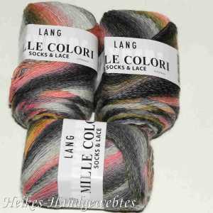 Mille Colori Socks & Lace Grau-Melone
