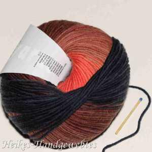 Merino+ Color Lachs-Marine-Braun
