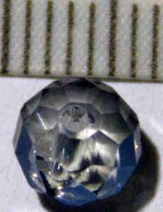 Glasperle Rauch geschliffen 6mm