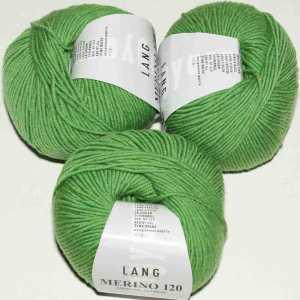 Grün melange Merino 120