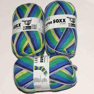 Super Soxx Color 4-fach Blau-Grün-Gelb