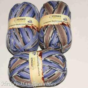 Lungauer Sockenwolle 6fach 309-18 Braun-Lila