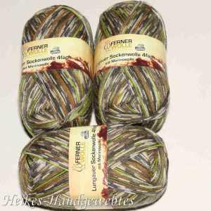 Lungauer Sockenwolle 4fach 249-19 Braun-Grün