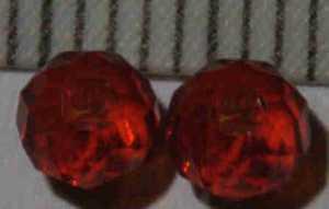Glasperle Rot geschliffen 4mm