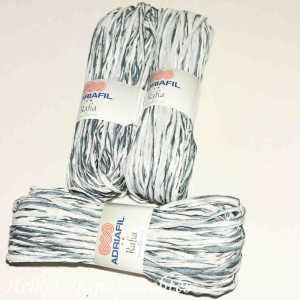Rafia Weiß-Grau