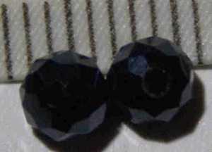Glasperle Graphit geschliffen 4mm