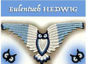 Wollpaket Eulentuch Hedwig von Petra Perle