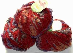 Muffin Rot-Orange-Lila