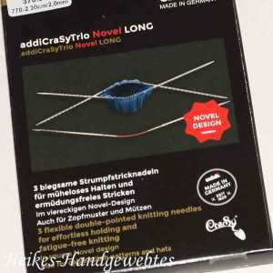 addiCraSyTrio Novel Long 2 - 3 Stück biegsame Strumpfstricknadeln