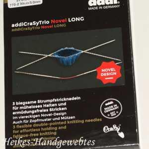 addiCraSyTrio Novel Long 3 - 3 Stück biegsame Strumpfstricknadeln