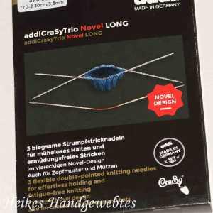 addiCraSyTrio Novel Long 3.5 - 3 Stück biegsame Strumpfstricknadeln