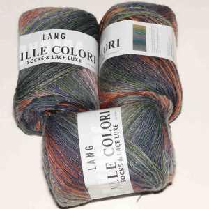 Mille Colori Socks & Lace Luxe Jeans-Lachs-Grau