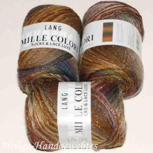 Mille Colori Socks & Lace Luxe Lachs-Braun-Grün